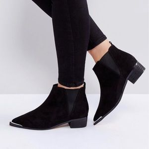 ASOS | admission wide fit pointed ankle booties